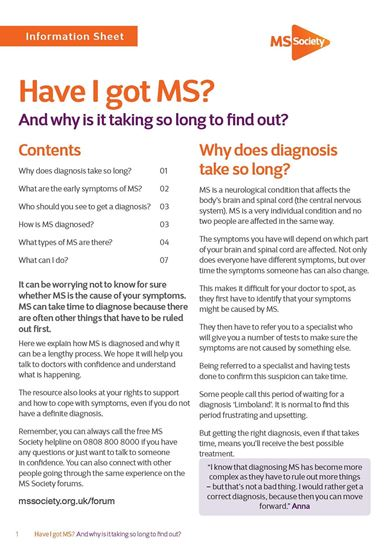 Picture of Have I got MS?