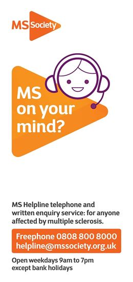 Picture of MS Helpline leaflet