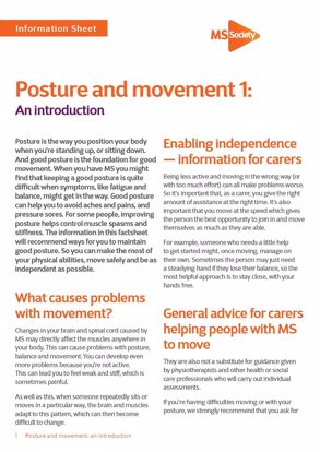 Picture of Posture and movement 1: An introduction