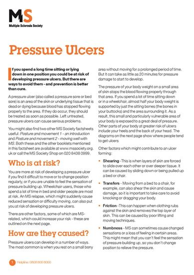 Picture of Pressure ulcers
