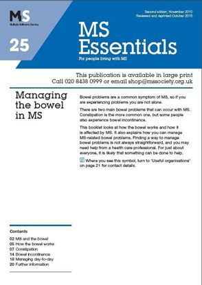 Picture of Managing the bowel in MS