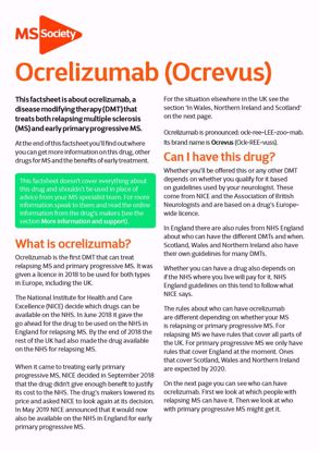 Picture of Ocrelizumab (Ocrevus)