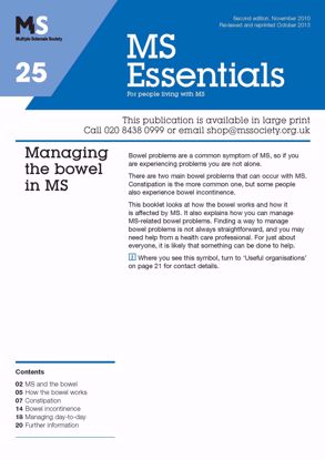 Picture of Managing the Bowel and Bladder in MS
