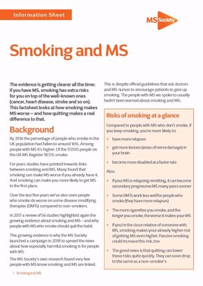 Picture of Smoking and MS
